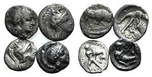 Lot of 4 Greek AR fractions, including ...