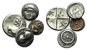 Mixed lot of 4 Greek AR Fractions, including ...