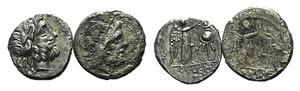 Lot of 2 Roman Republican AR Victoriatii. ...