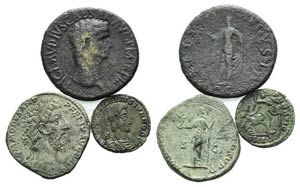 Lot of 3 Roman Imperial Æ coins, including ...