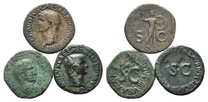 Lot of 3 Roman Imperial Æ Asses, to be ...