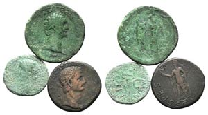 Lot of 3 Roman Imperial Æ coins, to be ...