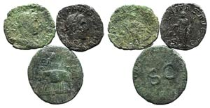 Lot of 5 Roman Imperial Æ Sestertii, to be ...