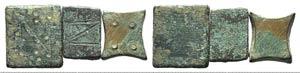 Lot of 3 Æ Romano-Byzantine Weights. LOT ...