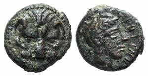 Bruttium, Rhegion, c. 350-270 BC. Æ (10mm, ...