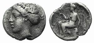Bruttium, Terina, c. 440-425 BC. AR Triobol ...
