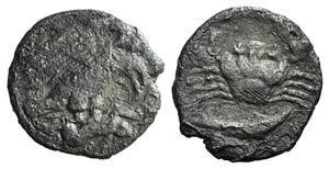 Sicily, Akragas, c. 420-410 BC. AR ...