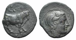 Sicily, Gela, c. 420-405 BC. Æ Tetras or ...
