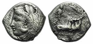Sicily, Kamarina, c. 425-405 BC. AR ...