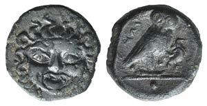 Sicily, Kamarina, c. 420-405 BC. Æ Onkia ...