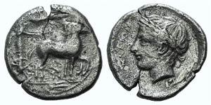 Sicily, Katane, c. 435-412 BC. AR ...