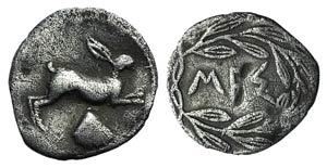 Sicily, Messana, c. 420-413 BC. AR Litra ...