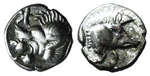Mysia, Kyzikos, c. 450-400 BC. AR Hemiobol ...