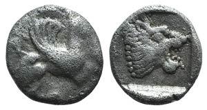 Troas, Assos, 5th century BC. AR Obol (8mm, ...