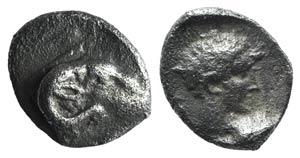 Troas, Kebren, c. 387-310 BC. AR Obol (7mm, ...