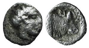 Lesbos, Mytilene, c. 440-400 BC. AR Hemiobol ...