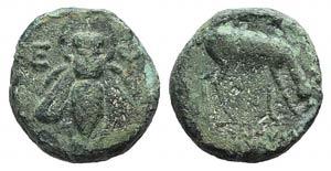Ionia, Ephesos, c. 280-258 BC. Æ (13mm, ...