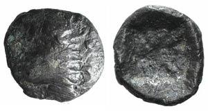 Caria, Kindya, c. 510-480 BC. AR Diobol ...