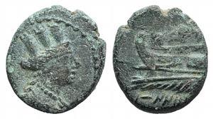 Phoenicia, Karne, 228-187 BC. Æ (13mm, ...
