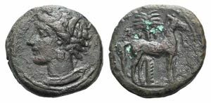 Carthage, c. 400-350 BC. Æ (15.5mm, 3.47g, ...