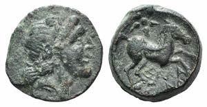 Northern Apulia, Salapia, c. 225-210 BC. Æ ...