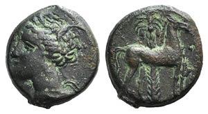 Carthage, c. 400-350 BC. Æ (16mm, 3.19g, ...