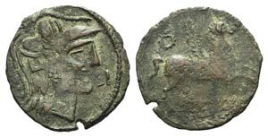 Iberia, Emporion, late 1st century BC. Æ As ...