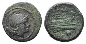 L series, Luceria, c. 214-212 BC. Æ Uncia ...
