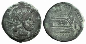 Anonymous, Rome, after 211 BC. Æ As (37mm, ...