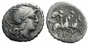 Wheel series, Sicily (?), 209-208 BC. AR ...