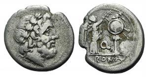 Q series, Apulia, 211-210 BC. AR Victoriatus ...