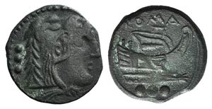 Anonymous, Central Italy, c. 208 BC. Æ ...