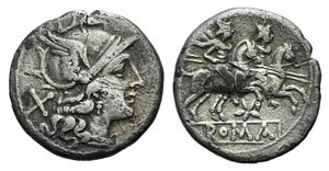 Star series, Rome, 206-195 BC. AR Denarius ...