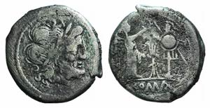 Anonymous, 206-195. AR Victoriatus (16mm, ...