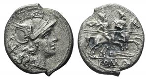 Knife series, Rome, 206-195 BC. AR Denarius ...