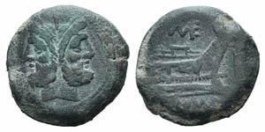 Caecilius Metellus, Rome, 194-190 BC. Æ As ...