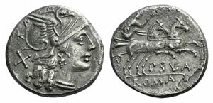 Pub. Sulla, Rome, 151 BC. AR Denarius (18mm, ...