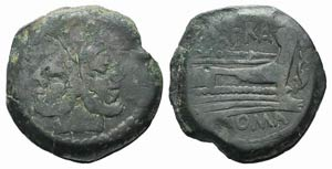 Spurius Afranius, Rome, 150 BC. Æ As (32mm, ...