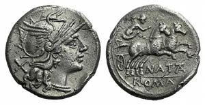 Pinarius Natta, Rome, 149 BC. AR Denarius ...