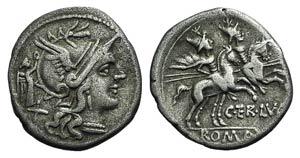 C. Terentius Lucanus, Rome, 147 BC. AR ...