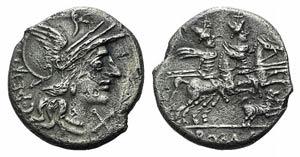 C. Antesti, Rome, 146 BC. AR Denarius (17mm, ...