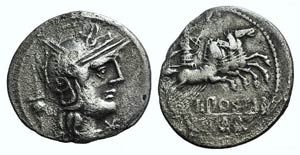 L. Postumius Albinus, Rome, 131 BC. AR ...