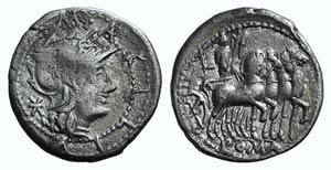 M. Acilius M.f., Rome, 130 BC. AR Denarius ...
