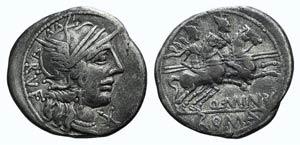 Q. Minucius Rufus, Rome, 122 BC. AR Denarius ...