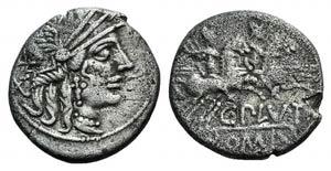 C. Plutius, Rome, 121 BC. AR Denarius (17mm, ...
