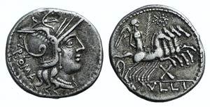M. Tullius, Rome, 119 BC. AR Denarius (20mm, ...