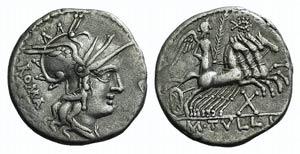 M. Tullius, Rome, 119 BC. AR Denarius (19mm, ...