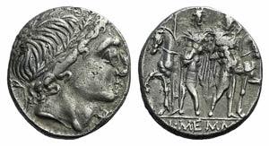 L. Memmius, Rome, 109-108 BC. AR Denarius ...