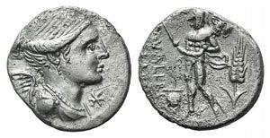 L. Valerius Flaccus, Rome, 108-107 BC. AR ...