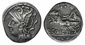 C. Coelius Caldus, Rome, 104 BC. AR Denarius ...
